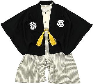 紋付袴(はかま) 風 ベビー羽織付きロンパース 端午【新品番 26535】