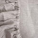 Varvara Home Lino sábana bajera welna, no Encoge, Natur Beige, 160 x 200 cm