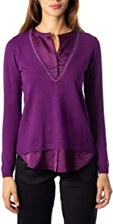 ANIS COLLECTION MILANO Luxury Fashion Womens 961020PURPLE Purple Jumper | Fall Winter 19