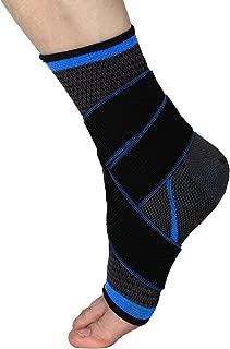 WINOMO Tobillera Estabilizadora Deportiva Protección de tobillos para prevenir de Esguince lesiones en el tobillo de las actividades diarias Unisexo (Negro + Azul)