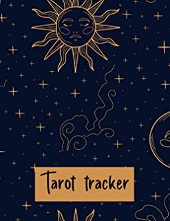 Tarot tracker journal: 2021:A daily reading tracker and notebook, Vintage Mystic Celestial Design, Track your 3 card draw,...