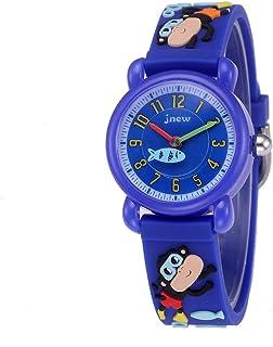 HUPLUE Kids Boys Girl Watch 3D Cute Monkey Silicone Band Waterproof Quartz Watch Toddlers Wristwatches