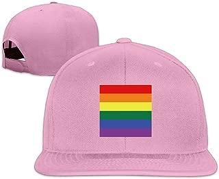 Gay Pride Honor Flag Logo Adjustable Snapback Hat
