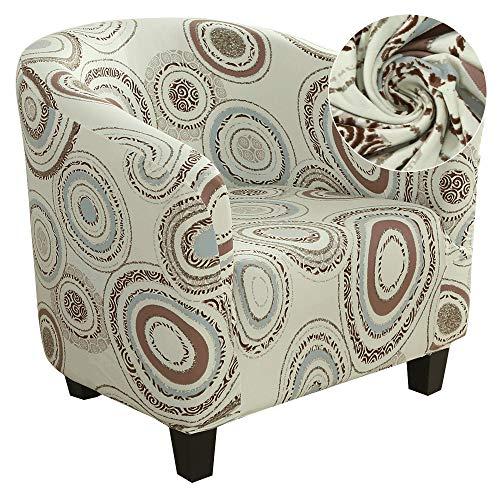 papasgix Sesselbezug Sesselüberwurf Sesselhusse Sesselschoner mit Modisch Muster Elastisch Stretch Husse Überzug für Clubsessel Loungesessel Cocktailsessel