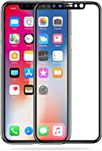 MOCOLO for Apple iPhone X Tempered Glass Screen Protector 9H Full Coverage Front Protective Cover Film [Anti-Fingerprint] [High Definition][2 Pack](Transparency) Black Print