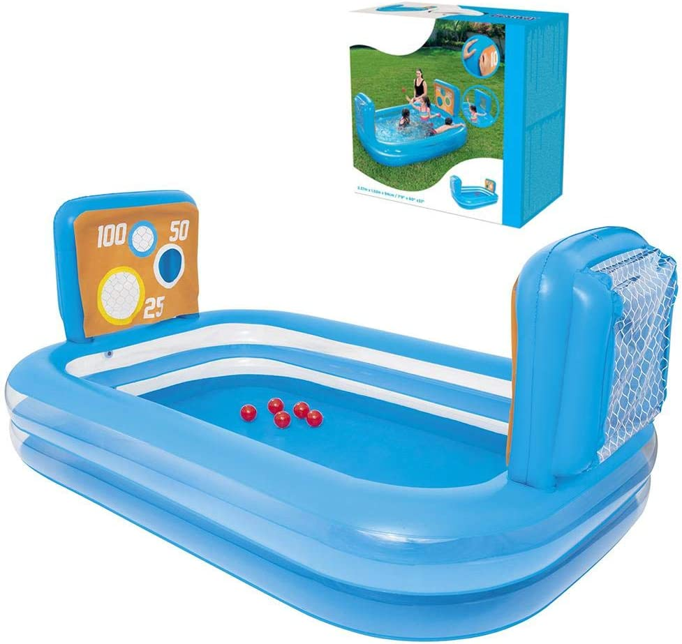 N M Raleigh Mall Inflatable Swimming Pool low-pricing Hoop,Swim Basketball with Center