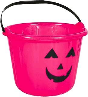 Plastic Pumpkin Bucket - Pink   24 Ct.