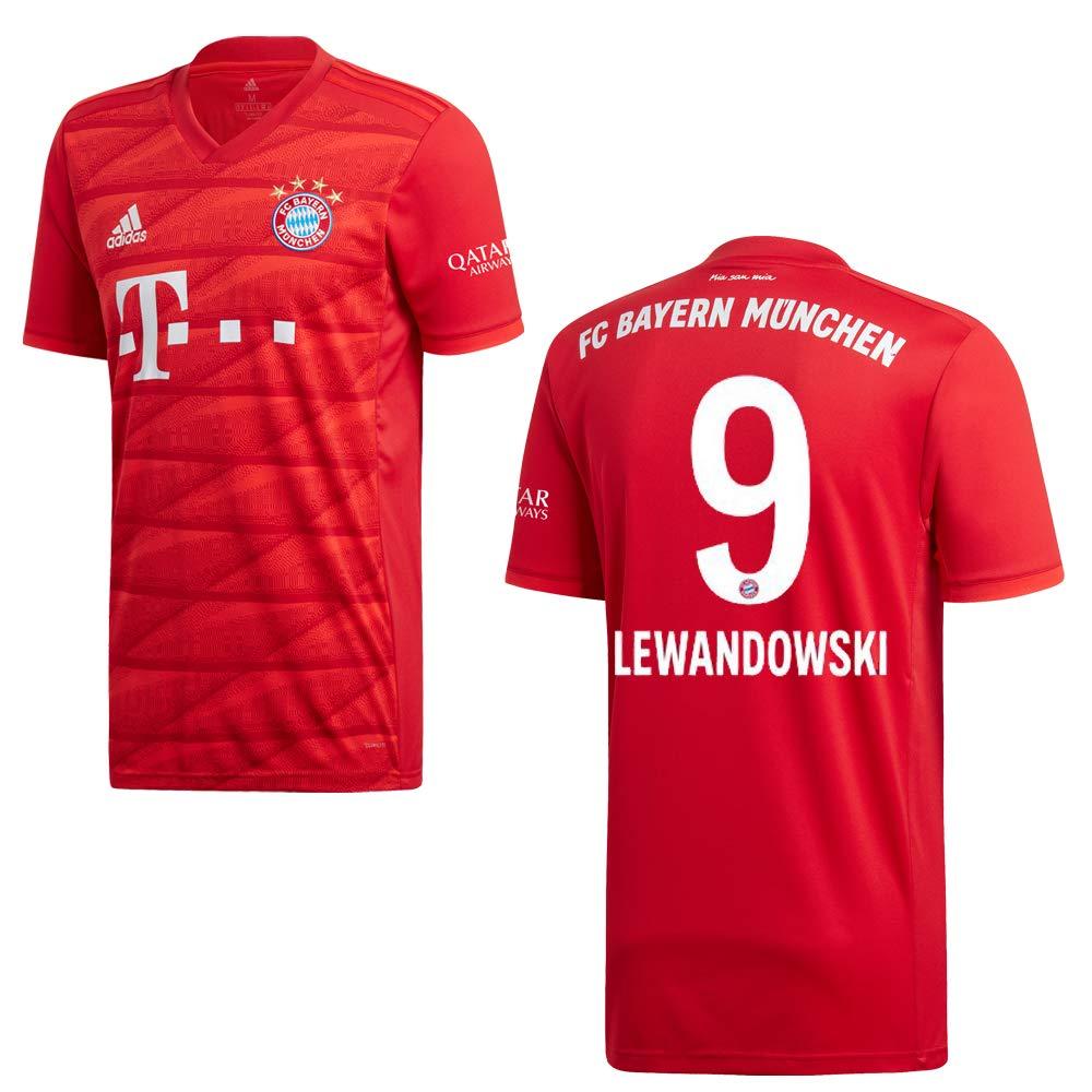adidas - Camiseta de fútbol para Hombre, diseño de Lewandowski 9, Extra-Large: Amazon.es: Deportes y aire libre