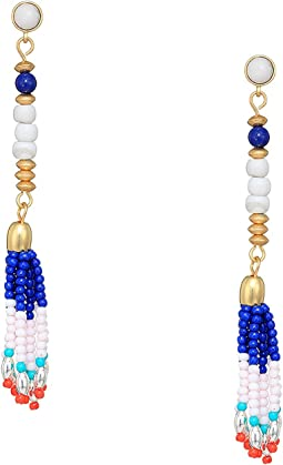 Luna Linear Beaded Earrings
