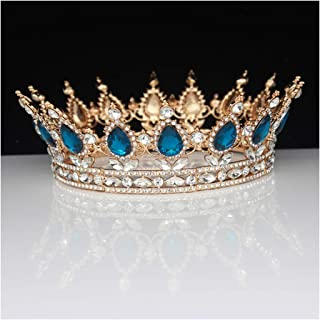 15 Colors Gold Queen King Bridal Tiaras And Crowns Bride Prom Headpiece Women Hair Ornaments,Tiara 05