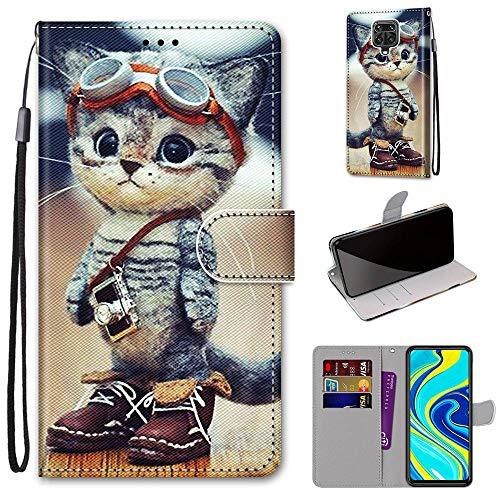 DICASI Handyhülle für Xiaomi Redmi Note 9S Hülle, Redmi Note 9 Pro PU Leder Flip Wallet Hülle Magnetisch & Standfunktion Klapphülle Schutzhülle für Xiaomi Redmi Note 9S/9 Pro/9 Pro Max
