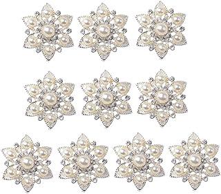 Fenteer 10x Blumen Flatback Strasssteine Kristall Flache Rücken Schmucksteine Glitzersteine zum Aufnähen