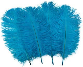Sowder 20pcs Natural 10-12inch(25-30cm) Ostrich Feathers Plume Wedding Centerpieces Home Decoration(Turquoise)