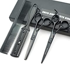 5.5 Inches Hair Scissors with Thinning Comb Hair Cutting Shears Thinning Shears set for Professional and Personal (Black)
