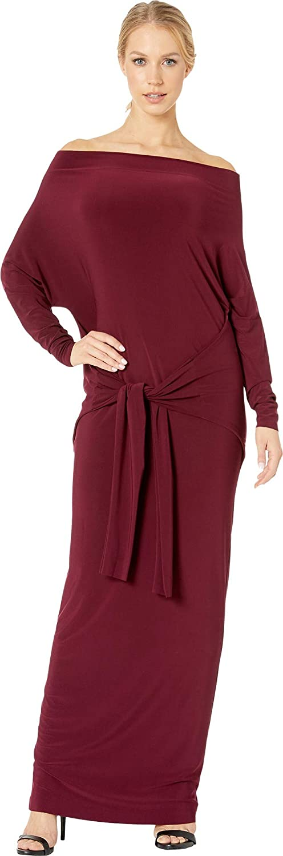 Norma Kamali Women's Four Sleeve Off Shoulder Long Dress