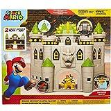 Nintendo- Super Mario Bros, Castillo Bowser Deluxe Playset Grande con Figura exclsuvia (Jakks Pacific 400202-1SOC)