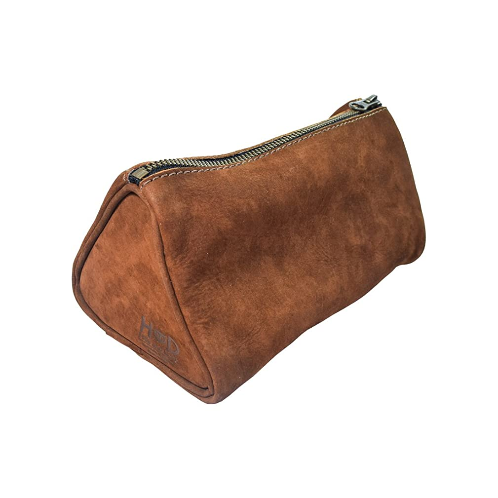Hide & Drink Soft Leather Travel Dopp Kit for Toiletries Handmade Swayze Suede