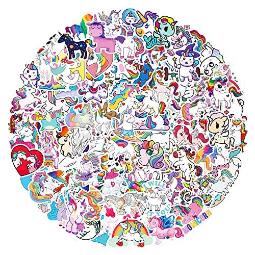 DSSK 100Pcs New Cartoon Unicorn Stickers Pony Graffiti Stickers Luggage Stickers Notebook Stickers Motorcycle Hand Account Stickers