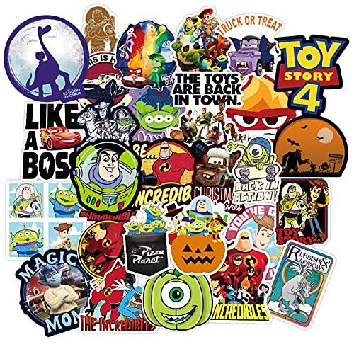 CHENX Pixar - Adhesivo de Tres Ojos para Toy Story, para Cuaderno, Taza de Agua, para Equipaje, 100 Unidades