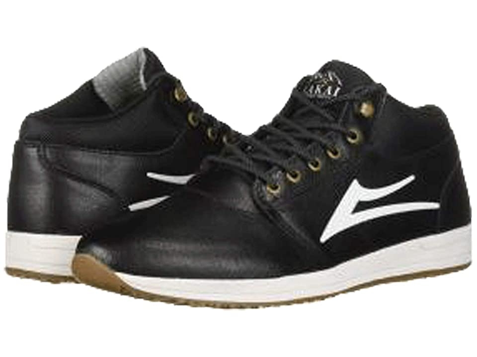 Lakai Griffin Mid Weather Treated (Black Leather 1) Men