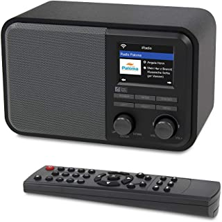 Ocean Digital WiFi Internet Radios WR-330D Digital Radio with FM Receiver, Subwoofer Speaker, 250 Preset Stations, Support UPnP & DLNA,Remote Control Alarm Clock Radio