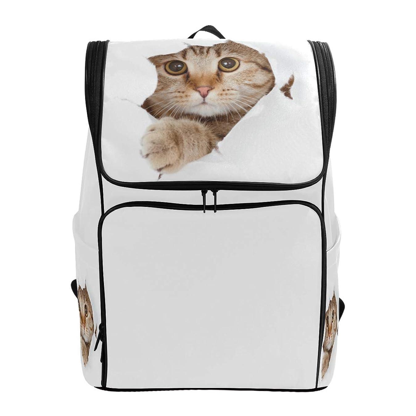 エンターテインメント後ろ、背後、背面(部評議会マキク(MAKIKU) リュックサック 大容量 かわいい 猫 望でいる 猫柄 リュック 軽量 メンズ 登山 通学 通勤 旅行 プレゼント対応