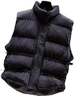 Howely Women Winter Coat Casual Puffer Coat Sleeveless Warm Vest Jacket