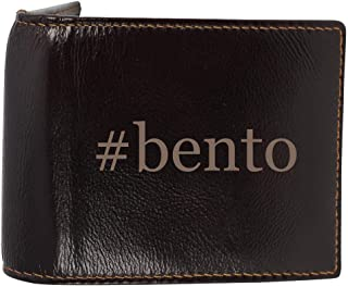 #bento - Genuine Engraved Hashtag Soft Cowhide Bifold Leather Wallet