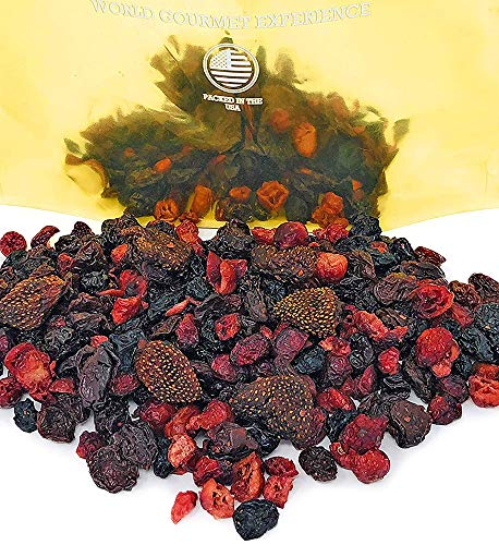SweetGourmet Premium Dried Mixed Berries | Cherries Cranberries Blueberries Strawberries | Kosher Bulk | NON GMO | No Sulfur Dioxide | Preservative Free | 3 Pounds