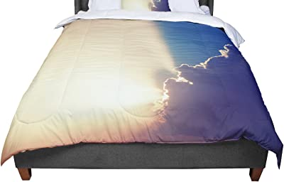 104 x 88 104 x 88 Kess InHouse Angie Turner Lily of The Valley King Cotton Duvet Cover