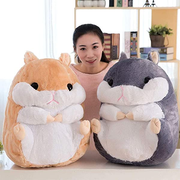 Top Stuffed Animals Cute Fat Mouse Hamster Plush Toy Stuffed Soft Kawaii Animal Cartoon Pillow Lovely Gift For Kids Baby Children 40cm