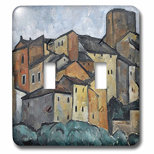 3dRose lsp_52279_2 Vintage 1913 San Gimignano, Italy Painting by Alexander Kanoldt Double Toggle Switch