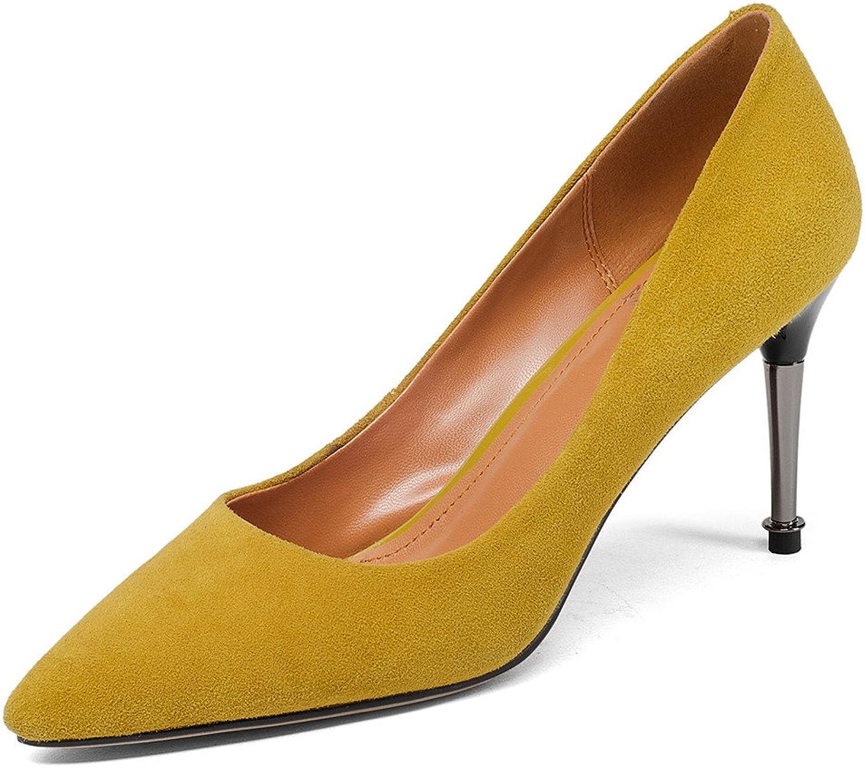 Nine Seven mocka läder Woherrar Point Toe Toe Toe Stiletto Heel Sexy Party Handgjort Class Pump skor  perfekt