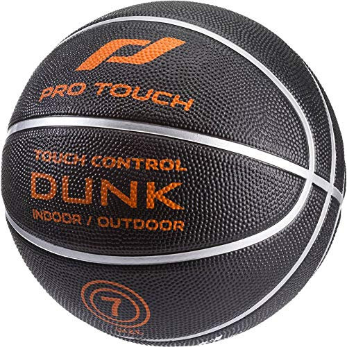 Pro Touch Basketball Dunk Badminton Ball, Schwarz/Orange/Silbe, 7