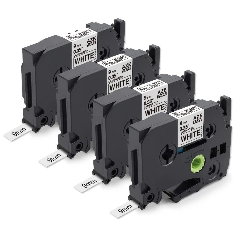 Brother Compatible TZ221 P-Touch PT1830SC PT-1830VP PT-1880 9mm Black//White Tape