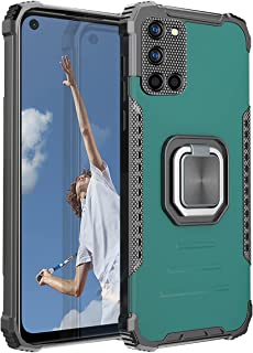 SHUNDA Case for Oppo A92, Soft TPU Bumper Hard PC Back Cover Dual layer Protection Shockproof Case Magnetic Kickstand Mili...