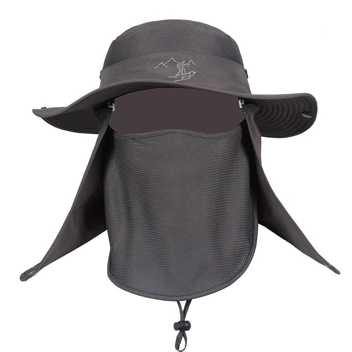 ケイ素ドラム最大のハット 帽子 ぼうし メッシュ 紫外線 使用 から 360度 ガード UV カット 日焼け 防止 顔 首 日よけ カバー 登山 釣り プール 海水浴 アウアドア