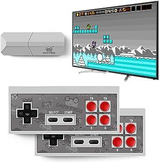 DZSF USB trådlös handhållen TV-spelkonsol inbyggd 600 klassiskt spel 8 bit mini videokonsol stöd AV-utgång