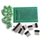 DollaTek Kit Scheda Scudo Vite/morsettiera prototipo per Arduino Mega 2560 R3 Fai-da-Te