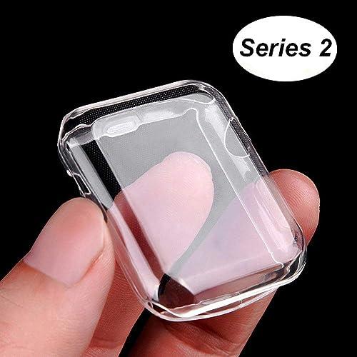 Coque Apple Watch Series 2, Misxi Protection écran iWatch [Couverture Complète] Protection Film TPU 0.3mm Ultra Mince Case pour 2016 i Watch 2 (Série 2 42mm)