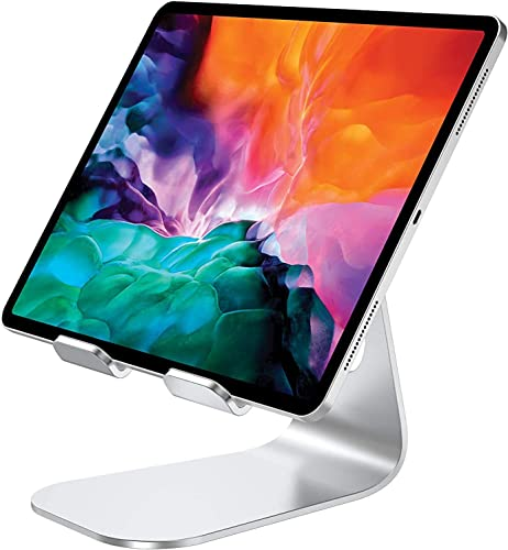 """Tablet Stand iPad Stand Cell Phone Stand Comsoon Adjustable Holder Charging Dock for Smartphones iPad Pro 9.7 10.5 12.9 iPad Air iPad Mini Samsung Tabs E-reader (4-13"""") (Silver)"""