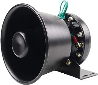 YHAAVALE 100W Siren Speaker High Performance Car Police Siren Black Round Bell Cone Speaker,DC12V,100W,Capable with Any 100 Watt Police Siren