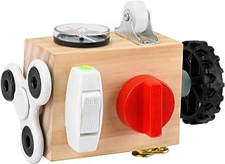 Nedyet Busy -board baby, activiteitsdobbelstenen speelgoed met sloten, draagbaar anti-stress speelgoed, activiteitenbord, ...