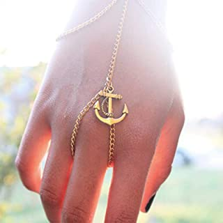 TseenYi Anker vinger Ring armband gouden slaaf armband handketting Boho handharnas armband handstuk sieraden voor dames en...
