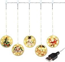 Decoração de cortina de Natal Luzes de cordas LED à prova d'água luz branca quente com alimentação por USB para sala de ca...