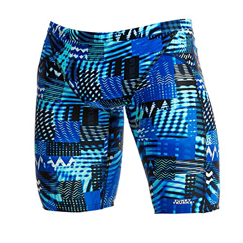 Funky Trunks Herren Training Jammer Electric Nights Badehose (AUS 32 / S)