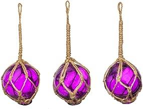 Nautical Crush Trading Purple Glass Float Balls | Fishing Buoy Balls 2
