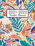 Teacher Planner: Lesson Plan for Class Organization   Weekly and Monthly Agenda   Academic Year August - July   Light Tropical Floral Print (2019-2020)