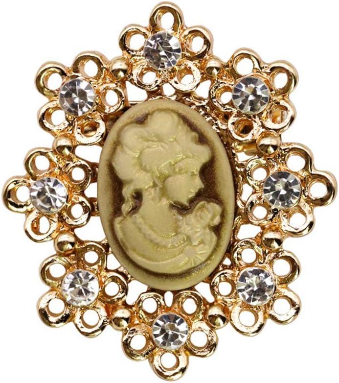 MYA 12 St/ück Brosche aus Kristall Vintage Rhinestone Cameo Blume Victorian Vintage Brosche f/ür Frauen