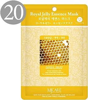 The Elixir Beauty Nature Premium Essence Facial Mask Pack Sheet 23g, Royal Jelly Mask Sheet Korean Cosmetic (20 Packs)